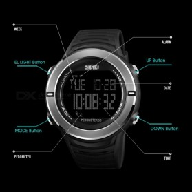 SKMEI Jam Tangan Digital Pria Pedometer - 1322 - Black - 4