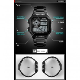 SKMEI Jam Tangan Digital Pria - 1335 - Black - 4
