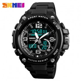 SKMEI Jam Tangan Digital Analog Pria - 1340 - Black