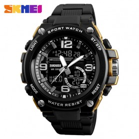 SKMEI Jam Tangan Digital Analog Pria - 1340 - Golden