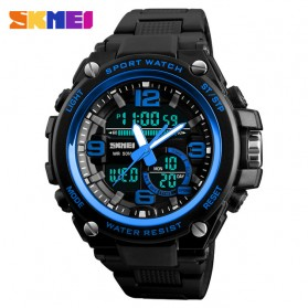 SKMEI Jam Tangan Digital Analog Pria - 1340 - Blue
