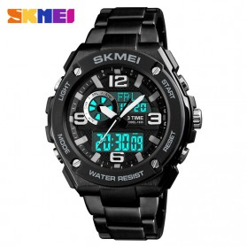 SKMEI Jam Tangan Digital Analog Pria - 1333 - Black