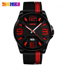 SKMEI Jam Tangan Analog - 9171 - Black/Red