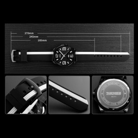 SKMEI Jam Tangan Analog - 9171 - Black White - 4