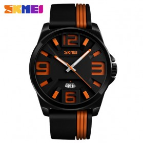 SKMEI Jam Tangan Analog - 9171 - Black/Orange