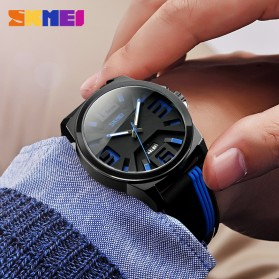 SKMEI Jam Tangan Analog - 9171 - Black/Orange - 2