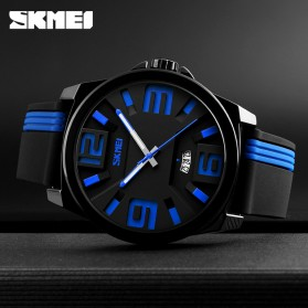 SKMEI Jam Tangan Analog - 9171 - Black/Orange - 3