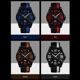 SKMEI Jam Tangan Analog - 9171 - Black/Orange - 6