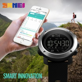 SKMEI Jam Tangan Olahraga Smartwatch Bluetooth Big - 1287 - Black - 2