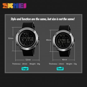 SKMEI Jam Tangan Olahraga Smartwatch Bluetooth Big - 1287 - Black - 5