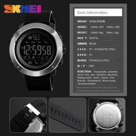 SKMEI Jam Tangan Olahraga Smartwatch Bluetooth Big - 1287 - Black - 6