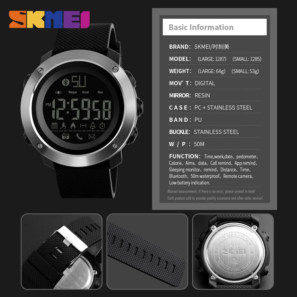... Bl Review Source · SKMEI Jam Tangan Olahraga Smartwatch Bluetooth Big 1287 Black 6