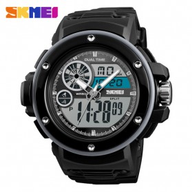 SKMEI Jam Tangan Digital Analog Pria - 1341 - Black