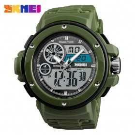 SKMEI Jam Tangan Digital Analog Pria - 1341 - Army Green - 1
