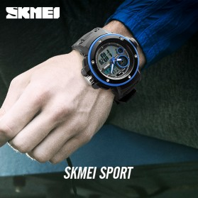 SKMEI Jam Tangan Digital Analog Pria - 1341 - Army Green - 4