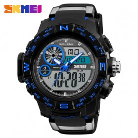 SKMEI Jam Tangan Digital Analog Pria - 1332 - Blue