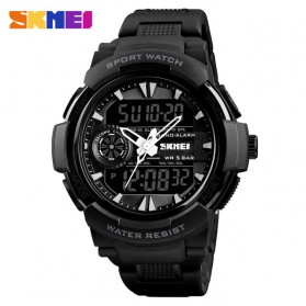 SKMEI Jam Tangan Digital Analog Sporty Pria - 1320 - Black