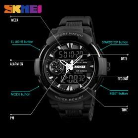 SKMEI Jam Tangan Digital Analog Sporty Pria - 1320 - Black - 4