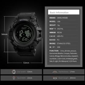 SKMEI Jam Tangan Digital Multifungsi Pria - 1358 - Black - 5