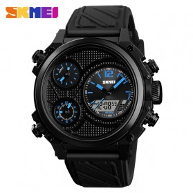 SKMEI Jam Tangan Digital Analog Pria - 1359 - Blue