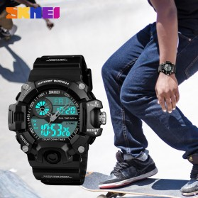 SKMEI Jam Tangan Digital Analog Pria - 1331 - Black - 2