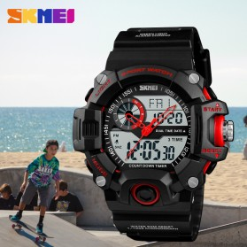 SKMEI Jam Tangan Digital Analog Pria - 1331 - Black - 3