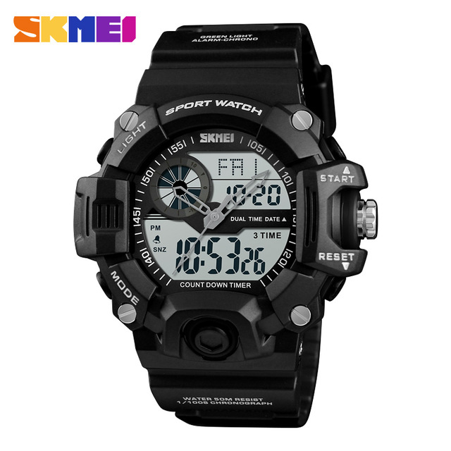 ... SKMEI Jam Tangan Digital Analog Pria - 1331 - Black - 1 ... 2bac6d7df9