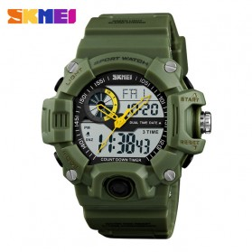 SKMEI Jam Tangan Digital Analog Pria - 1331 - Army Green