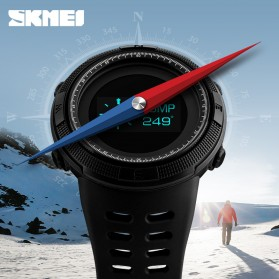 SKMEI Jam Tangan Digital Pria Kompas Pedometer Kalori Termometer - 1360 - Black - 5
