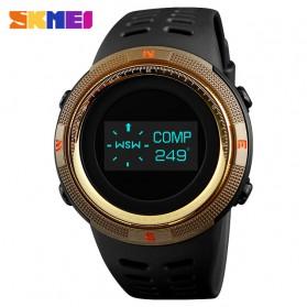 SKMEI Jam Tangan Digital Pria Kompas Pedometer Kalori Termometer - 1360 - Golden