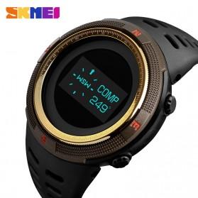 SKMEI Jam Tangan Digital Pria Kompas Pedometer Kalori Termometer - 1360 - Golden - 2