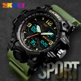 SKMEI Jam Tangan Digital Analog Pria - 1327 - Black - 2