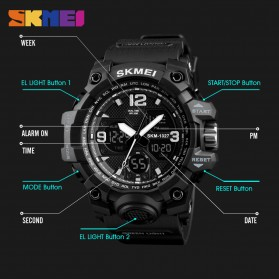 SKMEI Jam Tangan Digital Analog Pria - 1327 - Black - 3