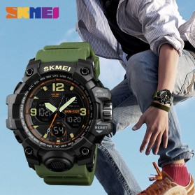 SKMEI Jam Tangan Digital Analog Pria - 1327 - Black - 6