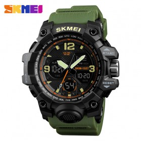 SKMEI Jam Tangan Digital Analog Pria - 1327 - Green