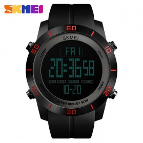SKMEI Jam Tangan Digital Pria - 1353 - Black/Red