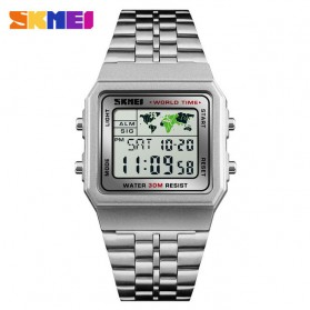 SKMEI Jam Tangan Fashion Digital Pria - 1338 - Silver