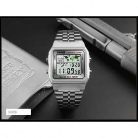 SKMEI Jam Tangan Fashion Digital Pria - 1338 - Silver - 2