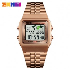 SKMEI Jam Tangan Fashion Digital Pria - 1338 - Rose Gold