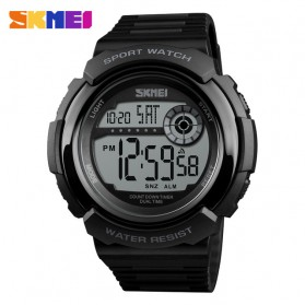 SKMEI Jam Tangan Digital Pria - 1367 - Black White - 1