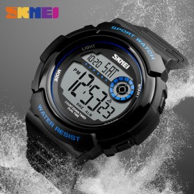 SKMEI Jam Tangan Digital Pria - 1367 - Black White - 5