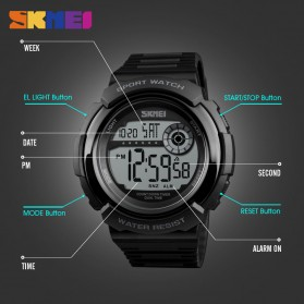 SKMEI Jam Tangan Digital Pria - 1367 - Black White - 7