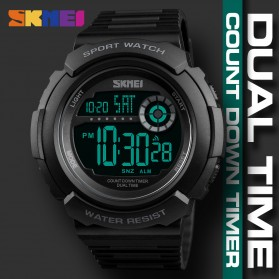 SKMEI Jam Tangan Digital Pria - 1367 - Black White - 8