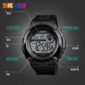 SKMEI Jam Tangan Digital Pria - 1367 - Black/Black - 7