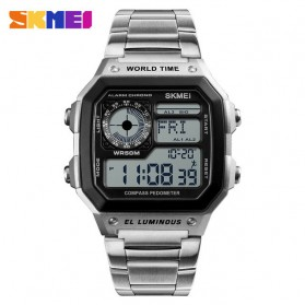 SKMEI Jam Tangan Digital Fashion Pria - 1382 - Silver