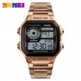 SKMEI Jam Tangan Digital Fashion Pria - 1382 - Rose Gold