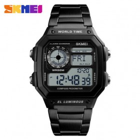 SKMEI Jam Tangan Digital Fashion Pria - 1382 - Black