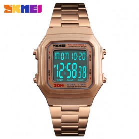 SKMEI Jam Tangan Digital Pria - 1337 - Rose Gold