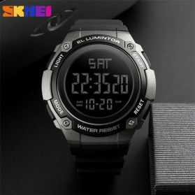 SKMEI Jam Tangan Digital Sporty Pria - 1346 - Black/Titanium - 3