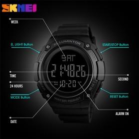 SKMEI Jam Tangan Digital Sporty Pria - 1346 - Black/Titanium - 4